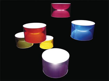 FUCHS+FUNKE  waist lamp :  lighting modern shades colors